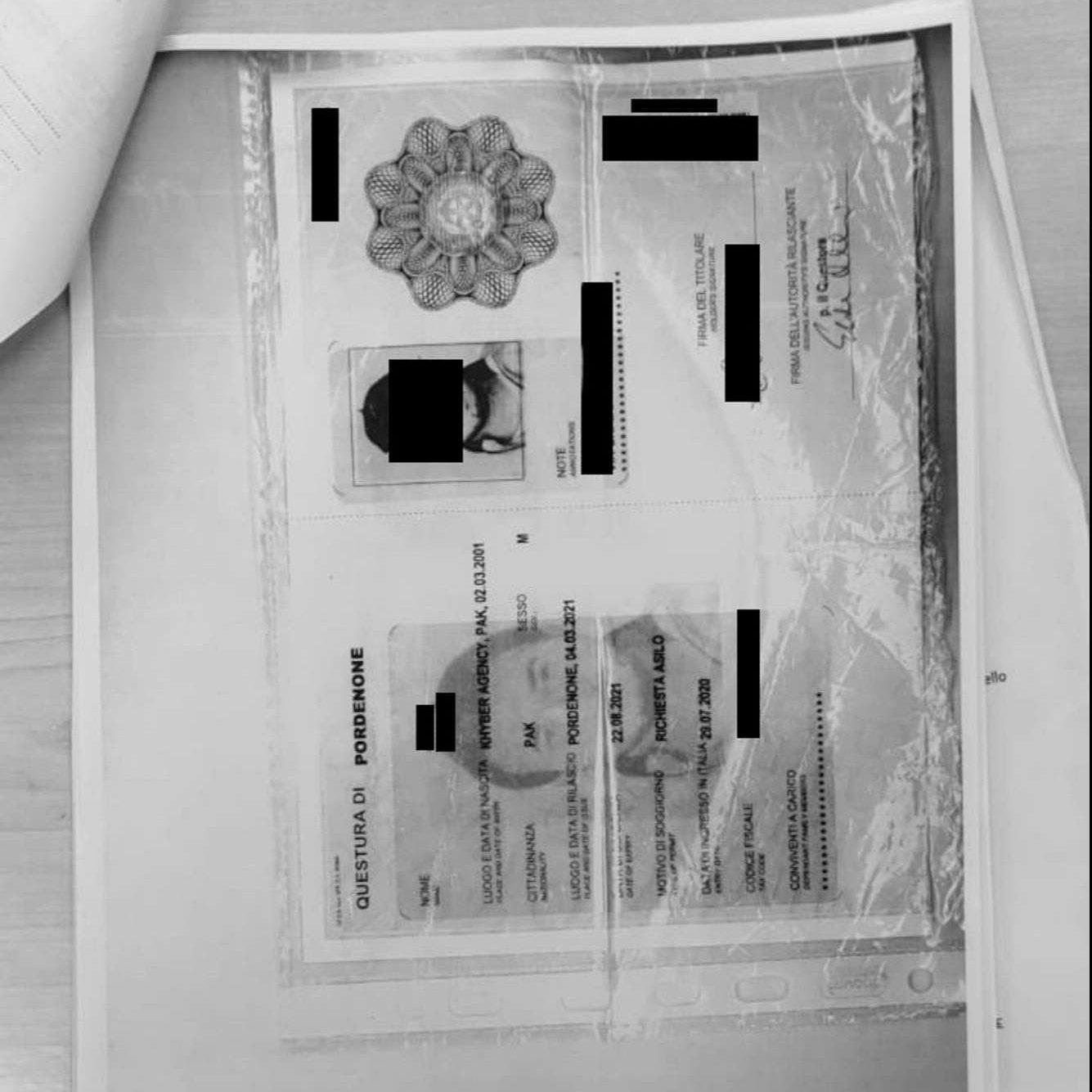 Documenti di richiedente asilo